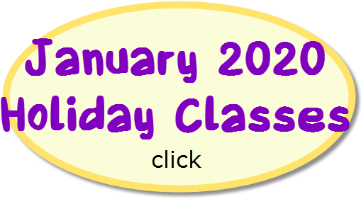 January 2020 Holiday Classes
