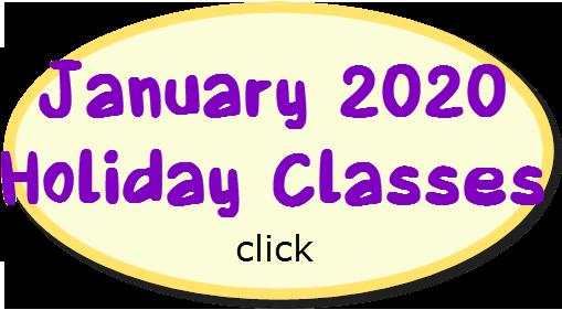 January 2020 Holiday Classes
